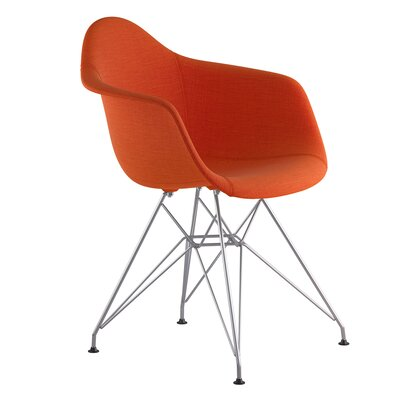 Eiffel Arm Chair Upholstery: Lava Red, Finish: Nickel