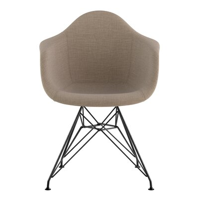 Eiffel Arm Chair Upholstery: Light Sand, Finish: Gunmetal