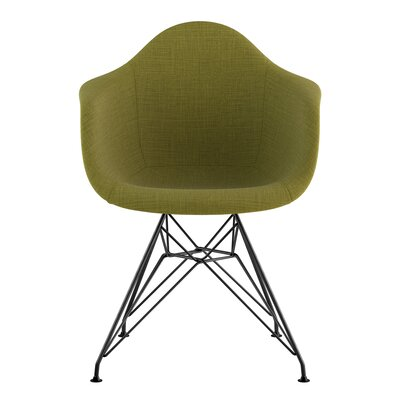 Eiffel Arm Chair Upholstery: Avocado Green, Finish: Gunmetal