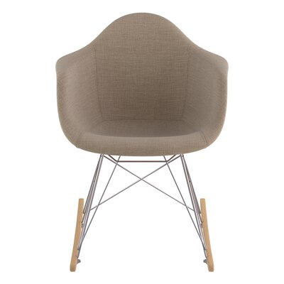 Arm Chair Upholstery: Light Sand, Finish: Nickel