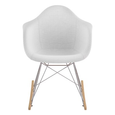 Arm Chair Upholstery: Glacier White, Finish: Nickel