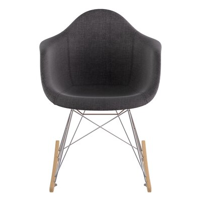 Arm Chair Upholstery: Charcoal Gray, Finish: Nickel