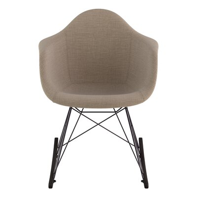 Arm Chair Upholstery: Light Sand, Finish: Gunmetal