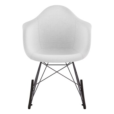 Arm Chair Upholstery: Glacier White, Finish: Gunmetal