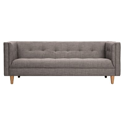 Kaja Chesterfield Sofa Upholstery: Aluminium Gray, Finish: Natural