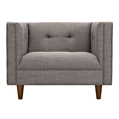Kaja Armchair Upholstery: Aluminium Gray, Finish: Walnut
