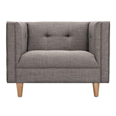 Kaja Armchair Finish: Natural, Upholstery: Aluminium Gray