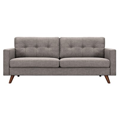 Uma Sofa Upholstery: Aluminium Gray, Finish: Walnut