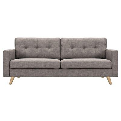 Uma Sofa Upholstery: Aluminium Gray, Finish: Natural