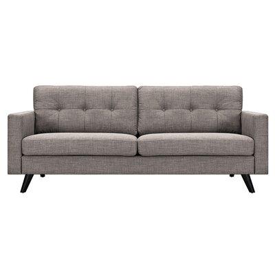 Uma Sofa Upholstery: Aluminium Gray, Finish: Black