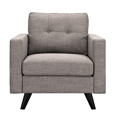 Uma Arm Chair Finish: Black, Upholstery: Aluminium Gray