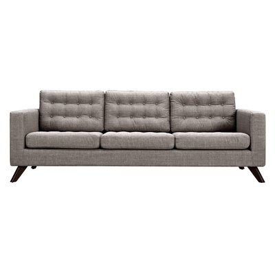 Mina Sofa Finish: Walnut, Upholstery: Aluminium Gray