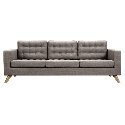 Mina Sofa Finish: Natural, Upholstery: Aluminium Gray
