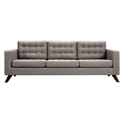 Mina Sofa Upholstery: Aluminium Gray, Finish: Black