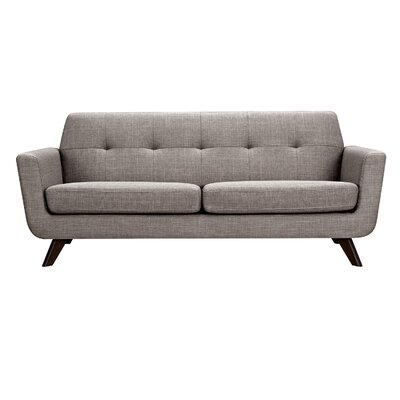 Dania Sofa Upholstery: Aluminium Gray, Finish: Walnut