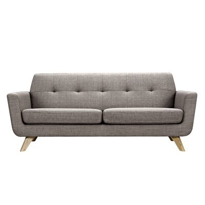Dania Sofa Finish: Natural, Upholstery: Aluminium Gray