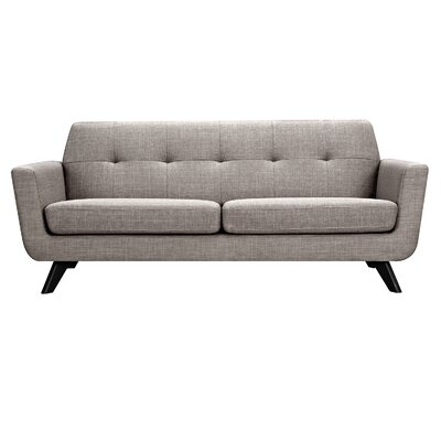 Dania Sofa Upholstery: Aluminium Gray, Finish: Black