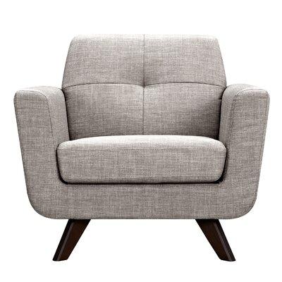 Dania Armchair Upholstery: Aluminium Gray, Finish: Walnut