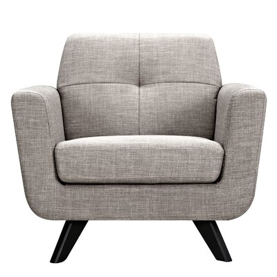 Dania Armchair Finish: Black, Upholstery: Aluminium Gray