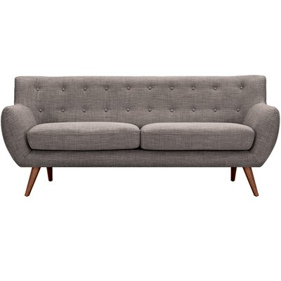 Ida Sofa Frame Finish: Walnut, Upholstery: Aluminium Gray