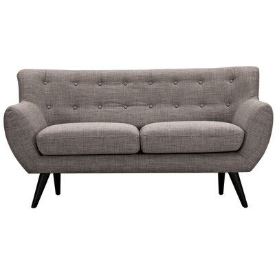 Ida Loveseat Upholstery: Aluminium Gray, Frame Finish: Black