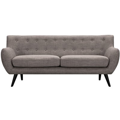 Ida Sofa Upholstery: Light Sand, Frame Finish: Walnut