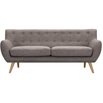Ida Sofa Frame Finish: Natural, Upholstery: Aluminium Gray