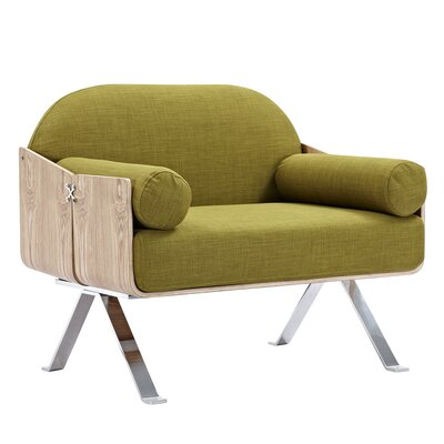 Jorn Armchair Upholstery: Avocado Green, Finish: Natural