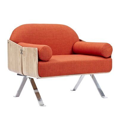 Jorn Armchair Upholstery: Lava Red, Finish: Natural