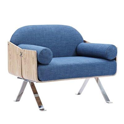 Jorn Armchair Upholstery: Dodger Blue, Finish: Natural