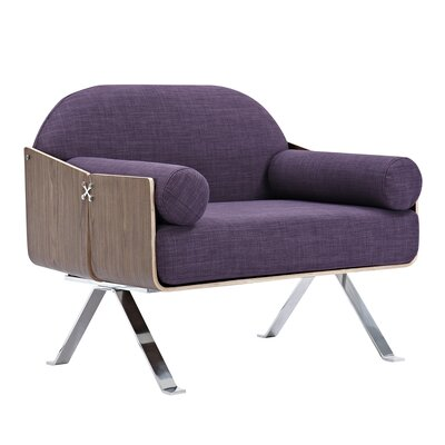 Jorn Armchair Upholstery: Plum Purple, Finish: Walnut