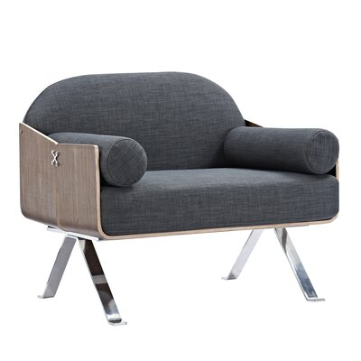 Jorn Armchair Upholstery: Charcoal Gray, Finish: Walnut