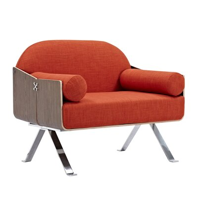 Jorn Arm Chair Upholstery: Lava Red, Finish: Walnut
