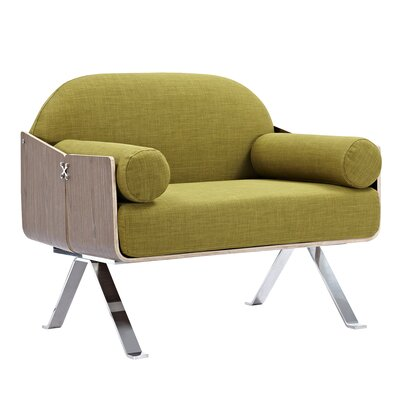 Jorn Armchair Upholstery: Avocado Green, Finish: Walnut