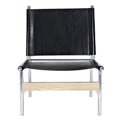 Slad Side Chair Upholstery: Milano Black, Finish: Nickel