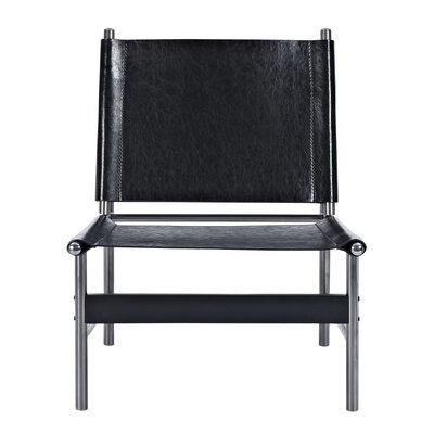 Slad Side Chair Upholstery: Milano Black, Finish: Black