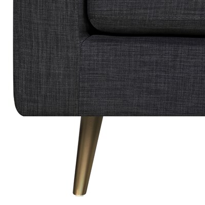 Fuhr 3 Piece Living Room Set Upholstery: Aluminium Gray, Color: Brass