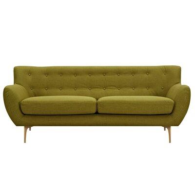 Mindy Sofa Upholstery: Avocado Green, Finish: Brass