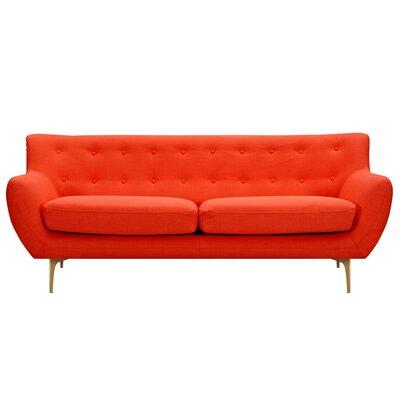 Mindy Sofa Upholstery: Retro Orange, Finish: Brass