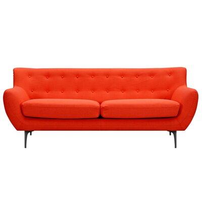 Mindy Sofa Upholstery: Retro Orange, Finish: Black
