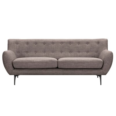 Mindy Sofa Upholstery: Aluminium Gray, Finish: Black