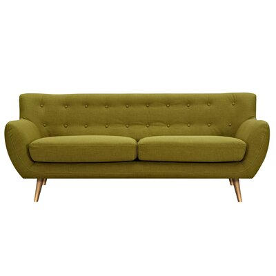 Suzanne Sofa Upholstery: Avocado Green, Finish: Brass