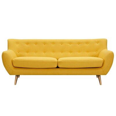 Suzanne Sofa Upholstery: Papaya Yellow, Finish: Brass