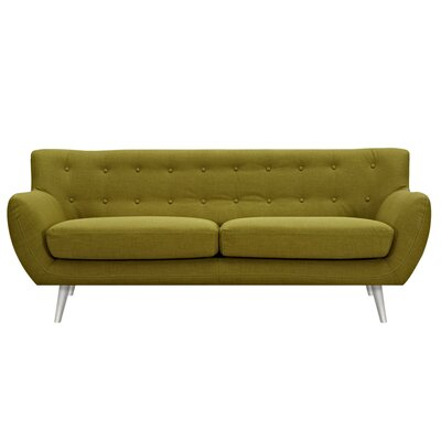 Suzanne Sofa Upholstery: Avocado Green, Finish: Silver