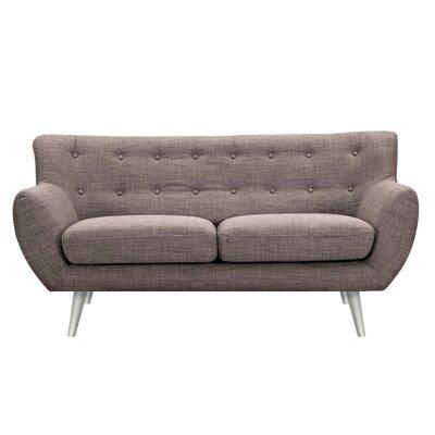 Suzanne Loveseat Upholstery: Aluminium Gray, Finish: Silver