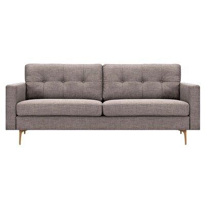 Kellie Sofa Upholstery: Aluminium Gray, Finish: Brass