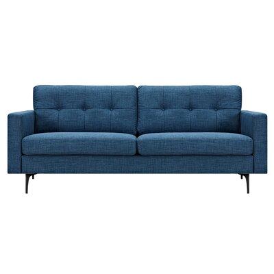 Kellie Sofa Upholstery: Stone Blue, Finish: Black
