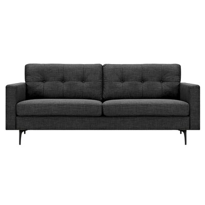 Kellie Sofa Upholstery: Charcoal Gray, Finish: Black