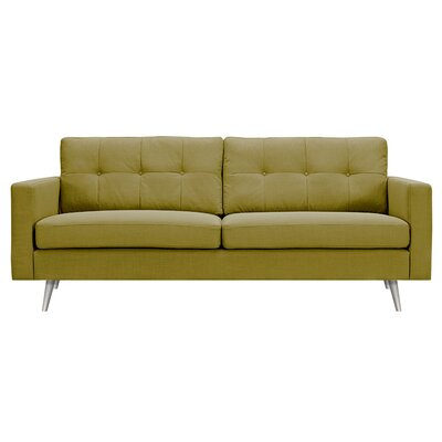 Shanna Sofa Upholstery: Avocado Green, Finish: Brass