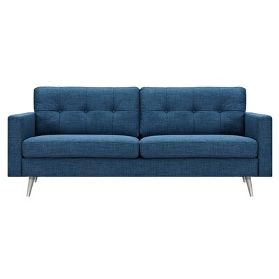Shanna Sofa Upholstery: Stone Blue, Finish: Brass
